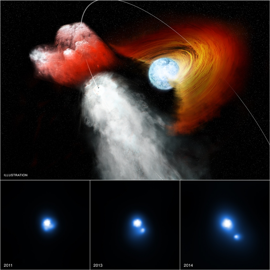 The double star system PSR B1259-63/LS 2883 - or B1259 for short - contains a star about 30 times as massive as the Sun and a pulsar, an ultra-dense neutron star left behind when an even more massive star underwent a supernova explosion